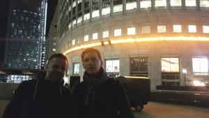 with Andris Dzenītis @canary wharf