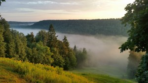 Fog over river Gauja. My highlight was swimming there in the midnight under full moon
